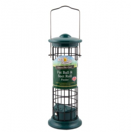 Harrisons Green Die-Cast Suet Roll and Fat Ball Feeder 20cm